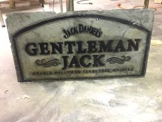 Hand painted slate tile with Jack Daniel's by MMEmbellishments