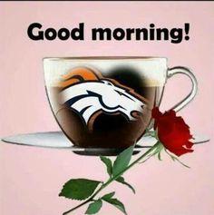 . Denver Broncos Tattoo, Denver Broncos Football, Go Broncos, Broncos Fans, Broncos Pictures, John Elway, Win Or Lose, Good Morning Good Night, Coffee Humor