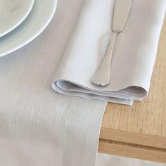Nappe et Serviette Basique Lin Gris Clair - Nappes - Table   Zara Home France