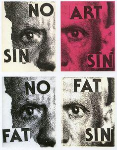 Keith Haring, No Sin Art Sin Fat Sin No Fat, xerox collage, 1979.
