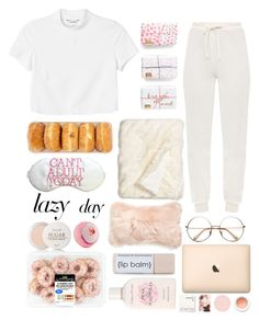 """Lazy day"" by harperstewart ❤ liked on Polyvore featuring Nordstrom, Fresh, Mina Victory, Monki, Crabtree & Evelyn, Korres, LazyDay, cozy, comfy and fashionset"