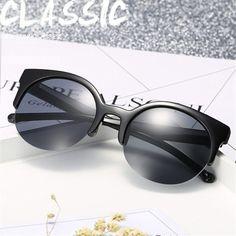 f46a169791 Imwete Round Cat Eye Sunglasses Women Classic Retro Brand Designer Sun  glasses Vintage Cateyes Women's Glasses Goggles