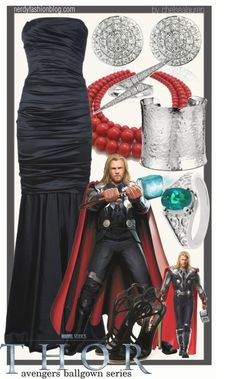 This is actually a really amazing looking outfit! Thor | The Avengers Ballgown Series by chelsealauren10