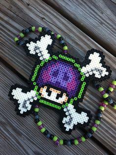 Poison Shroom Perler Kandi Necklace by OzarkValleyCrafts