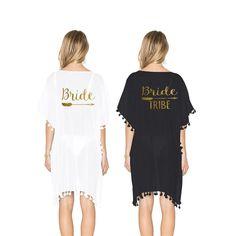 273d1c97f6 Bride Tribe Swim Suit Cover Up. Bride Bathing Suit. Bachelorette Party.  Bridal Squad