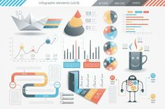 Infographic Elements (v8) by Infographic Paradise on @creativemarket
