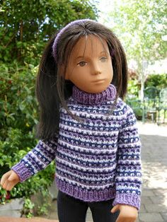Sasha Doll Style: Free Knitting slip stitch sweater Pattern for Sasha