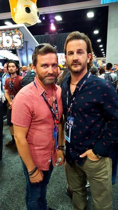 Lori G. ‏@noz4a2   #RichardSpeight & #RobBenedict walking the #ComicCon2016 floor. How cool! @WormholeRiders @dicksp8jr @RobBenedict