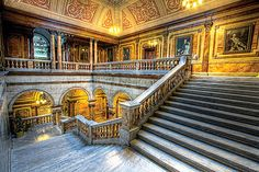 Glasgow City Chambers Grand marble staircase