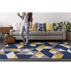Ideas Living Room Blue Yellow Grey Rugs For 2019 Lovely yellow living room accessories argos only in popi home design Navy Blue Rooms, Blue And Yellow Living Room, Navy Living Rooms, Blue Yellow Grey, Indian Living Rooms, Elegant Living Room, Rugs In Living Room, Living Room Decor, Room Rugs