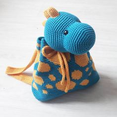 Ravelry: Dino backpack by Maria Isabel