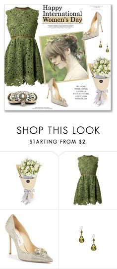 """""""Happy International Women's Day!"""" by annabu ❤ liked on Polyvore featuring Valentino, White Label, Jimmy Choo, Forever 21, internationalwomensday and iamawoman"""
