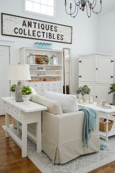 Collected + Cozy Cottage Living Room Makeover