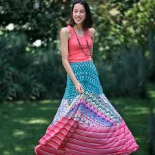 Buy beautiful long skirts in a maxi style. In cool and trendy prints in green, blue and coral. Great for travel, super comfy design. Girls Maxi Dresses, Womens Maxi Skirts, Oxford White, Maxi Styles, Designer Dresses, Long Skirts, Joy, Colorful, Black Belt