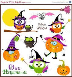 Items similar to Owl Halloween - Png & Jpeg clip art images. Halloween Owl, Halloween Clipart, Halloween Images, Halloween Cards, Holidays Halloween, Halloween Pumpkins, Halloween Designs, Clip Art Pictures, Art Images