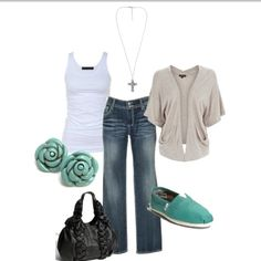 <3 everything except the earrings and bag.