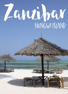 WHAT TO DO: NUNGWI BEACH, ZANZIBAR *Enjoy romantic dinners at a beach table right in the sand, under the stars. Toes in the sand, gentle breeze, what a treat! *Scuba Dive. You might get a glimpse of the beautiful Hawksbill sea turtle. *Take a snorkelling trip. *Visit Mnemba Island and if you're brave, book the trip on an authentic wooden dhow (boat) – just be sure to take your motion sickness tablets! #Travel in #Africa <3