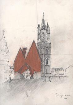 Robbrecht en van Daem Architecten, Market Hall, Ghent