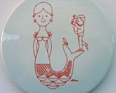 Vintage Bing and Grondahl Antoni Red Mermaid and by EdibleComplex, $30.00