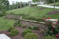 Pittsburgh retaining walls installation by PGHSW uses retaining wall block like Omni Stone and Versa-lok for it's retaining wall construction. Retaining Wall Construction, Privacy Walls, Wall Installation, Landscaping Company, Outdoor Living, Outdoor Decor, Mosaic Wall, Cottage Style, Curb Appeal