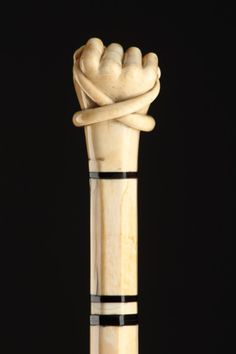 Sailors Scrimshaw Carved Sperm Whale Tooth Ivory Walking Cane