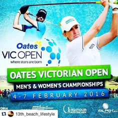 Oates Victorian Open  Starts tomorrow 04-07.02.16 #golf  The countdown is on! 2016 Oates Vic Open starts this coming Thursday 4th February at 13th Beach Golf Links. Walk the fairways with the players including Karrie Webb Richard Green Marianne Skarpnord and Nick Cullen... #OatesVicOpen #13th_beach_lifestyle #13thbeachgolflinks #Repost @13th_beach_lifestyle with @repostapp  #aguideto #aguidetobarwonheads #barwonheadscafes  #smallbusiness #shoplocal #livelovelocal  #photography #ocean #beach…