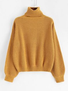 Autumn and Spring and Winter Solid Elastic Full Drop Turtlecollar Regular Loose Fashion Daily and Going Pullovers Turtleneck Drop Shoulder Plain Sweater Girls Fashion Clothes, Teen Fashion Outfits, Trendy Fashion, Cute Sweaters, Winter Sweaters, Mode Kpop, Sweater Design, Cute Casual Outfits, Cropped Sweater