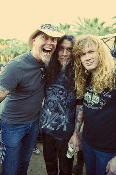 James Hetfield, Tom Araya, Dave Mustaine