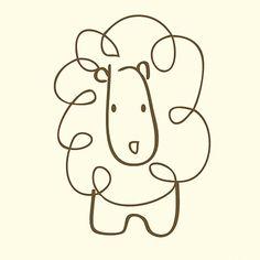 lion sketch canvas reproduction - Simple Sketch For Kids