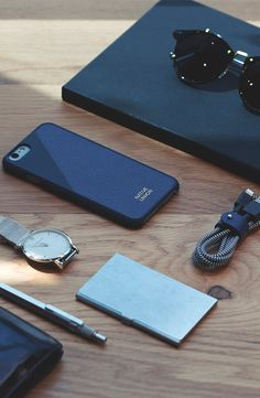 Leather Edition Set in Marine Blue | Includes iPhone 6s Case and Braided BELT Charging Cable