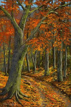 Frank Wilson – Wooded Road – new oils http://fineartamerica.com/featured/wooded-road-frank-wilson.html