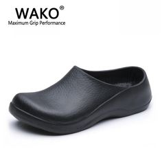 e8fac0ffddc WAKO 9051 Chef Shoes for Men Black Sandals for Kitchen Restaurant Work Shoes  Super Anti-