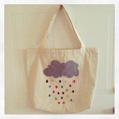 """Tote bag, """"Lluvia de colores"""""""