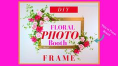 DIY floral photo frame for weddings, baby showers, bridal showers, and birthday parties. A photo booths is always fun to have at these events . Diy Wedding Photo Booth, Wedding Backdrop Design, Diy Photo Booth, Photo Booth Frame, Wedding Ideas, Photo Booths, Trendy Wedding, Picture Frame, Engagement Party Games