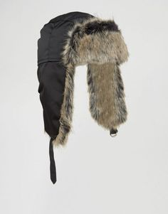 Top Fashion Gifts for Men - Keep your thoughts warm and dry with this ASOS trapper hat Trapper Hats, Black Nylons, Latest Trends, Fur Coat, Asos, Jackets, Stuff To Buy, Men, Warm