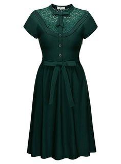 Amazon.com: Missmay Women's Vintage 1920S Elegant Lace Short Sleeve A-Line Swing Dress: Clothing  https://www.amazon.com/gp/product/B01GX4DBG6/ref=as_li_qf_sp_asin_il_tl?ie=UTF8&tag=rockaclothsto-20&camp=1789&creative=9325&linkCode=as2&creativeASIN=B01GX4DBG6&linkId=399c45cf63cf0098ad34159815837bab