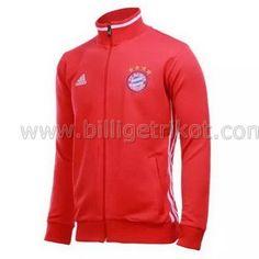 Bayern München Trainingsjacke hoher Kragen rot 2017 €28,90