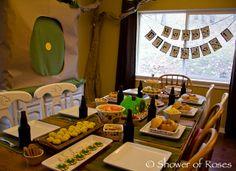 A Hobbit Birthday Party! I love this idea! Especially the hobbit hoods.