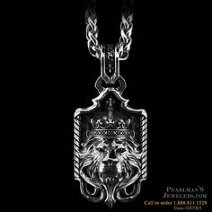 NightRider Silver Royal Blood Lion Pendant from Pearlmans Jewelers