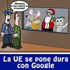 La Unión Europea amenaza a Google con una gran multa si no cambia sus políticas de privacidad y de abuso de posición dominante. Nosotros tenemos imágenes del proceso.