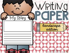Writing Paper  Hi everyone! As I get ready for a new school year I want to have an assortment of writing paper available for my students. Here's a packet of writing paper to use at your writing station or center.  It's a packet of writing paper that can be used throughout the year. All the writing papers have a landscape orientation. It includes lined writing paper with a space for drawings as well as pages of only lined paper if you want to print front to back. Some of the paper has lines…