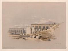 Lateral view of the temple called the Typhonæum, at Dendera [Dandara]  by David Roberts