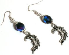 Czech Glass & Moon Earrings. Starting at $5 on Tophatter.com!
