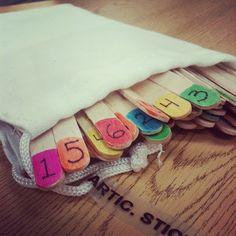 Popsicle sticks....Fun idea for therapy!!!