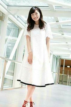 Good Morning Call, Japan Fashion, Japanese Girl, Coco, Asian Girl, White Dress, Short Sleeve Dresses, Newport Beach, Celebrities