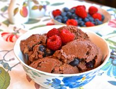 Pure and Simple Nourishment : Double Berry Chocolate Ice Cream (Paleo, GAPS, Gelatin, Dessert)