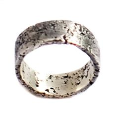 Oxidized Silver Moonscape Wedding Ring | Handmade Wedding Rings | Handcrafted Jewelry from Turtle Love Co.