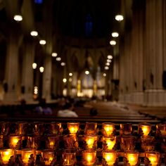 Candles in St. Patrick's Cathedral