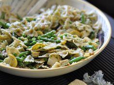 Tofu Pasta Salad with Basil Vinaigrette by AerisEmma, via Flickr