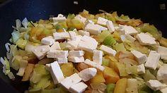 Kartoffel-Lauch-Pfanne mit Feta